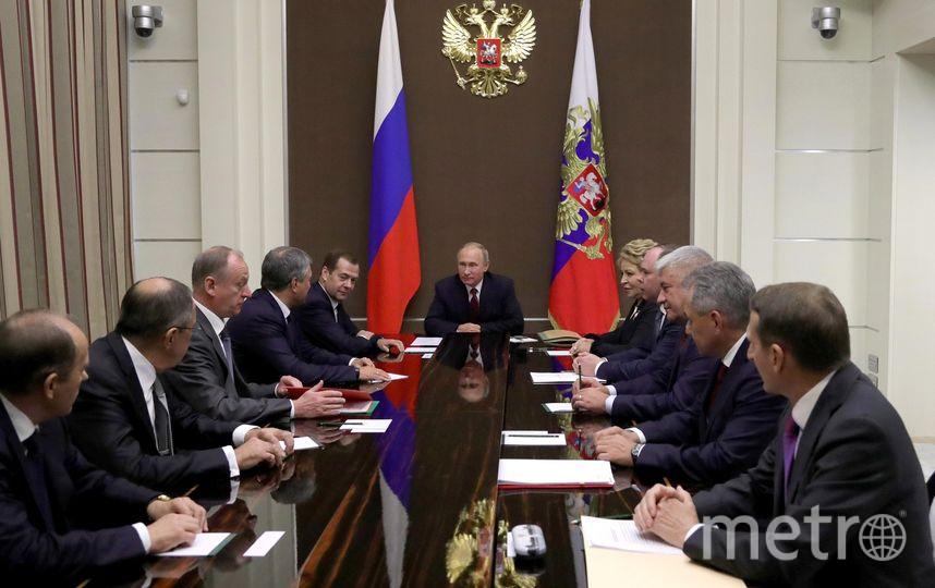 Совещание с постоянными членами Совета Безопасности 7 октября. Фото kremlin.ru