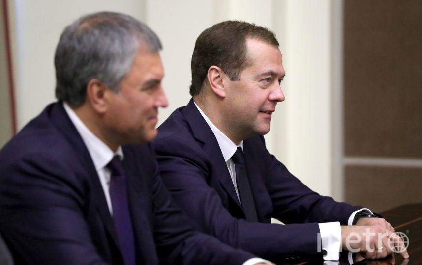 Председатель Правительства Дмитрий Медведев и Председатель Госдумы Вячеслав Володин. Фото kremlin.ru