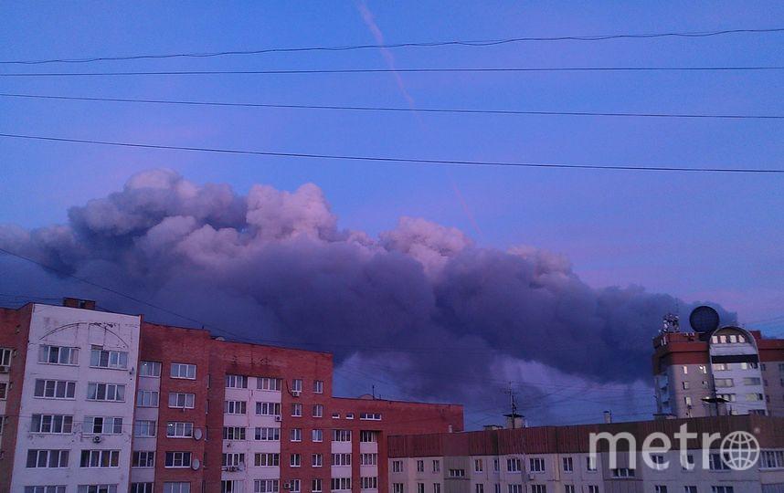 Пожар на строительном рынке в Подмосковье. Фото Twitter @TokigawaFran