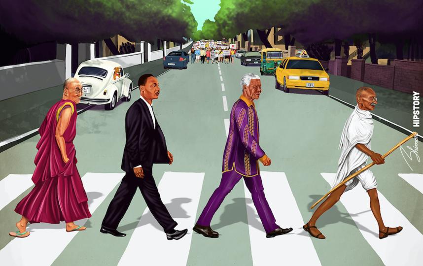 """Обложка """"Abbey Road"""". Фото Амит Шимони, """"Metro"""""""