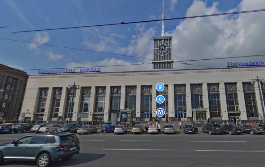 Финляндский вокзал. Фото Яндекс.Панорамы