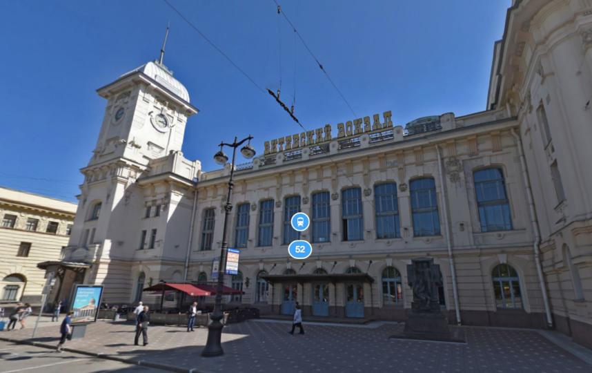 Витебский вокзал. Фото Яндекс.Панорамы