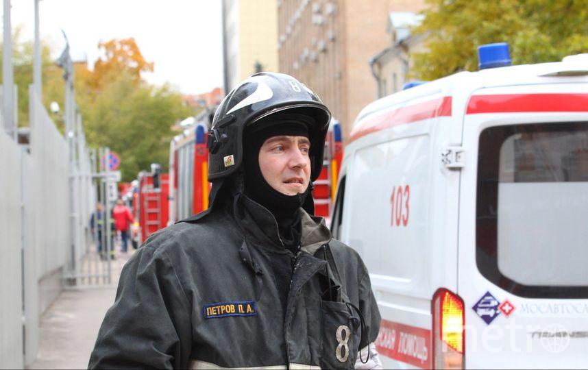 Пожар в НИИ. Фото Василий Кузьмичёнок