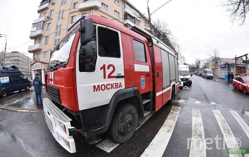 Неизвестные подожгли типографию в центре Москвы. Фото Василий Кузьмичёнок