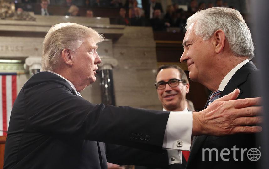 Рекс Тиллерсон и Дональд Трамп. Фото Getty