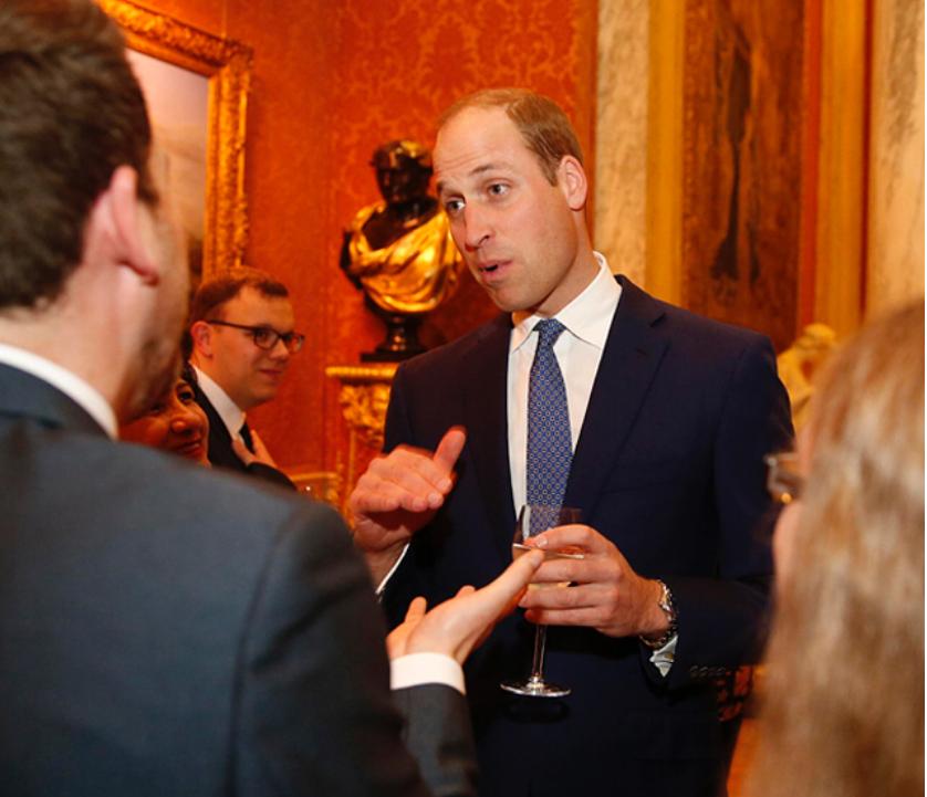 Принц Уильям на приеме во дворце в честь Дня психического здоровья - фотоархив. Фото Скриншот instagram.com/theroyalfamily/