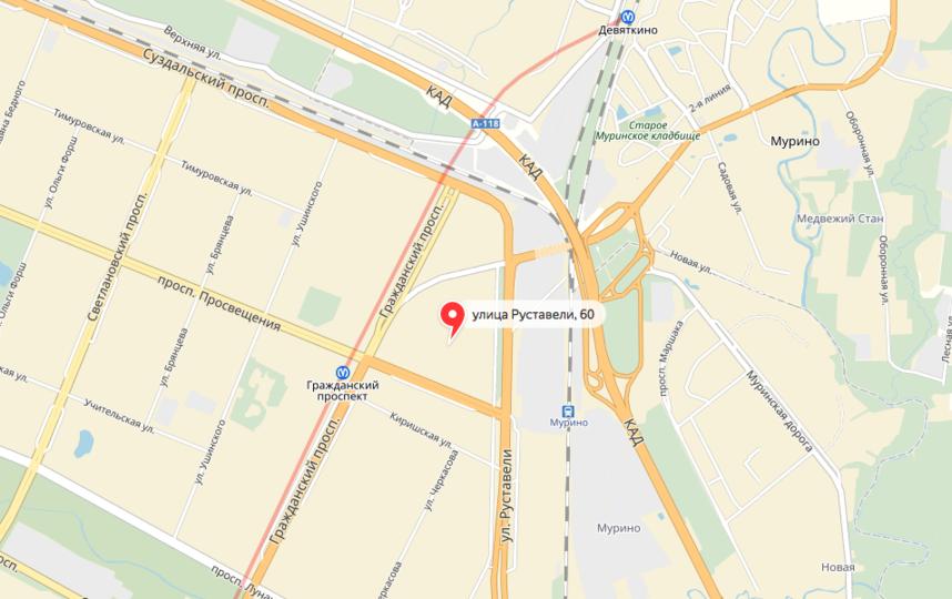 Трагедия случилась в доме №60 по улице Руставели. Фото яндекс.карты.