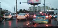 Сильный дождь в Петербурге стал причиной множества ДТП