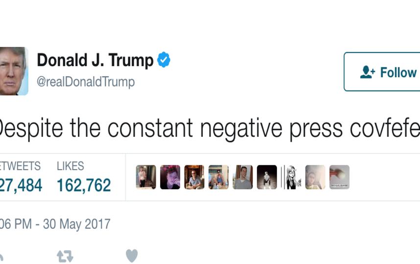 Легендарный твит Трампа. Фото Twitter @realDonaldTrump