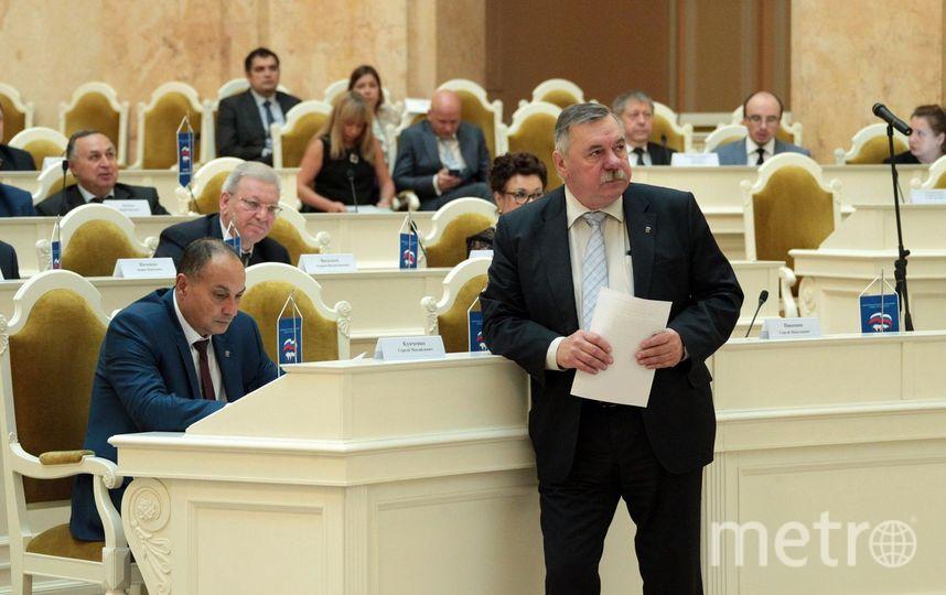 Заседание депутатов в Законодательном собрании.