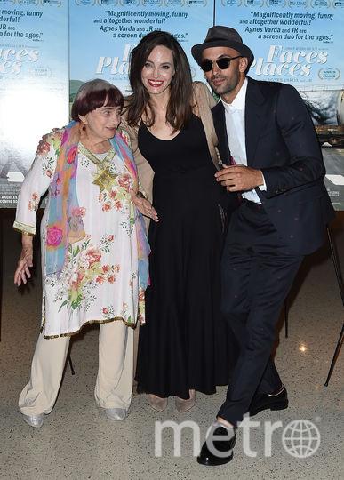 На премьере фильма. Анджелина Джоли, Аньес Варда и Даррен Аронофски. Фото Getty