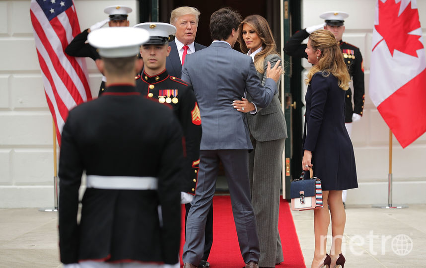 Джастин Трюдо, Дональд Трамп, Мелания Трамп, Софи Грегуар. Фото Getty