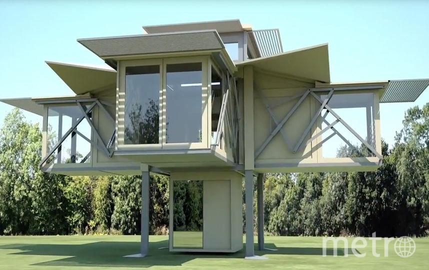 Дом в разложенном виде. Фото Ten Fold Engineering