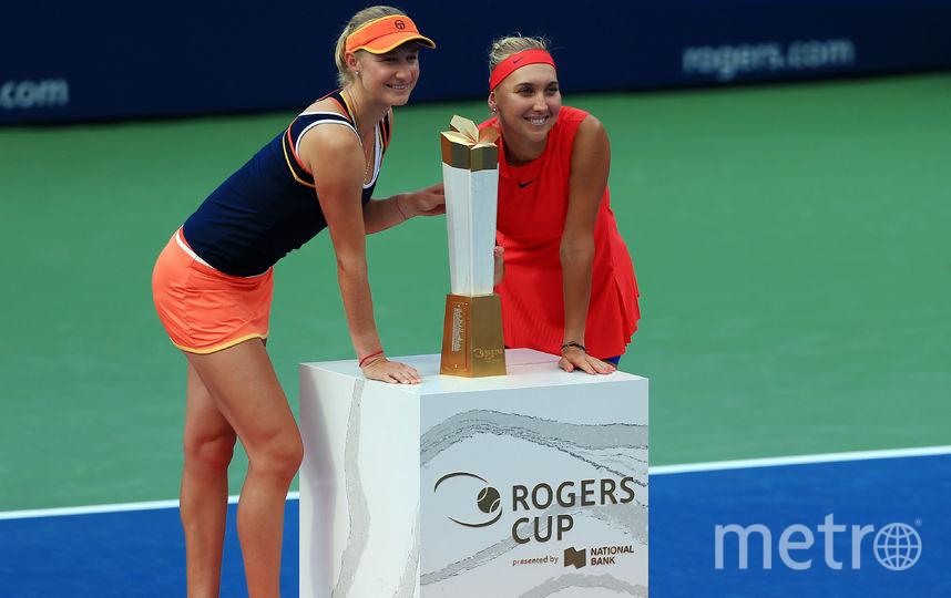 Российские теннисистки Елена Веснина и Екатерина Макарова. Фото Getty