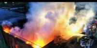 Пожар на территории завода