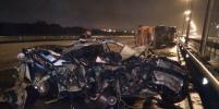 Жёсткое ДТП на КАД с самосвалом: от BMW осталась груда железа