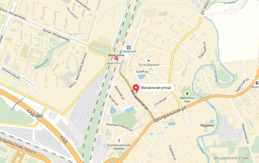 Таксиста ограбили недалеко от метро. Фото яндекс.карты.