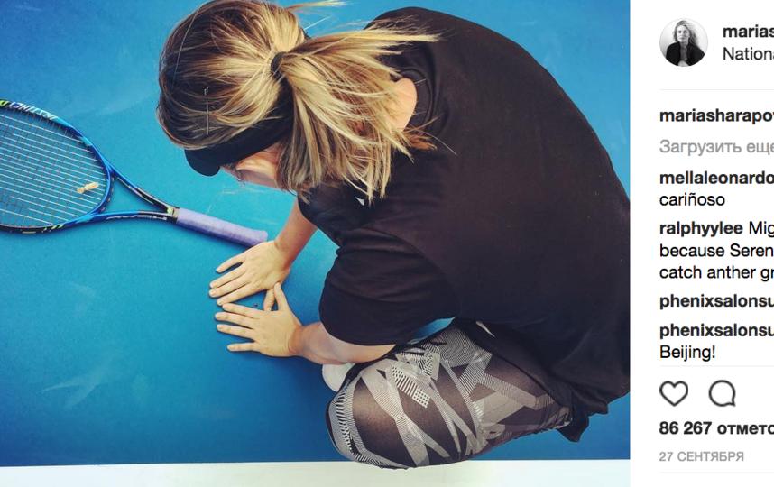Мария Шарапова завоевала первый титул после дисквалификации. Фото все - скриншот www.instagram.com/mariasharapova/