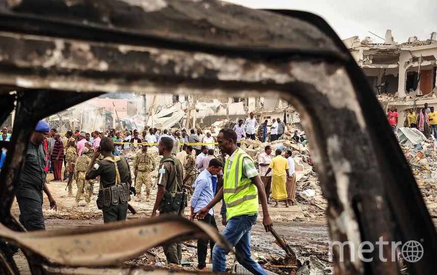Последствия взрыва в Могадишо. Фото AFP