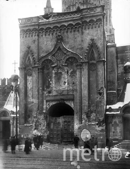 Разрушения отводной стрельницы Никольской башни. Фото предоставлено пресс-службой Музеев Московского Кремля