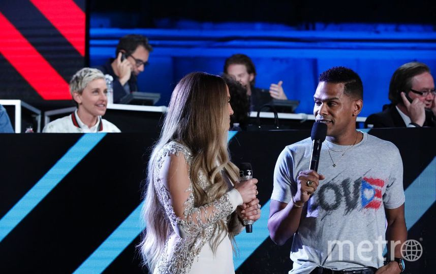 Дженнифер Лопес и другие звезды на благотворительном концерте. Фото Getty