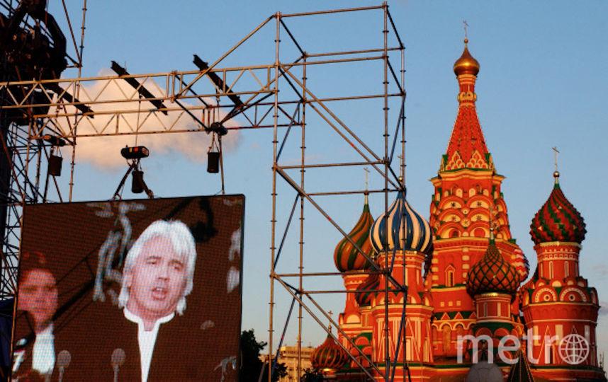 Концерт оперного певца Дмитрия Хворостовского на Красной площади, 2005-й год. Фото РИА Новости