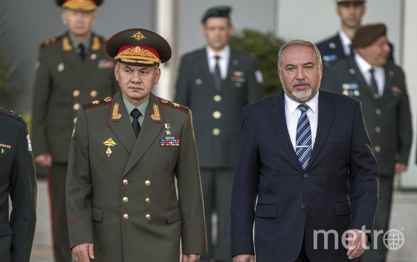 Встреча Сергея Шойгу и Авигдора Либермана. Фото AFP