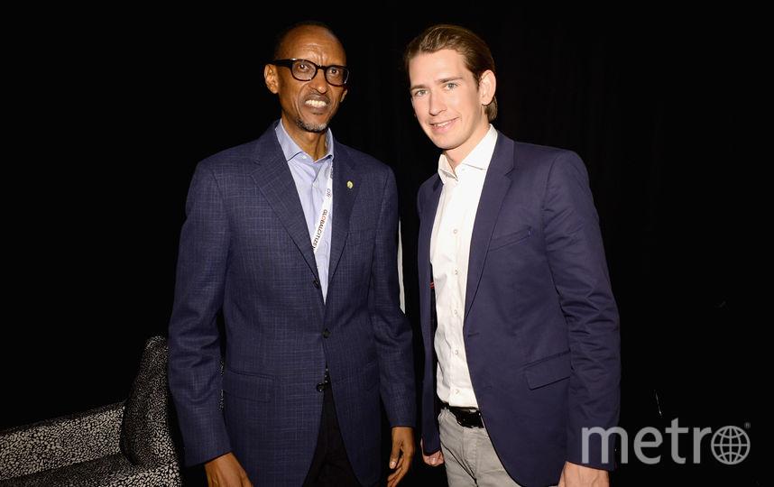 Курц с президентом Руанды. Фото Getty