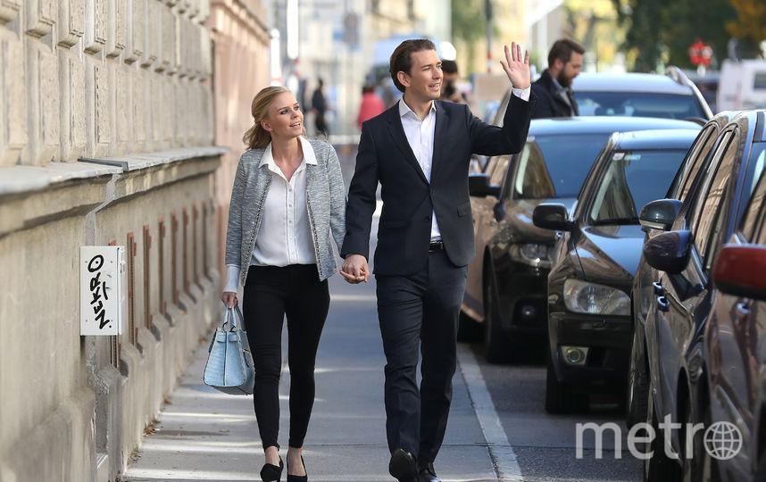 Себастьян Курц с подругой Сюзанной Тьер (Susanne Thier). Фото Getty