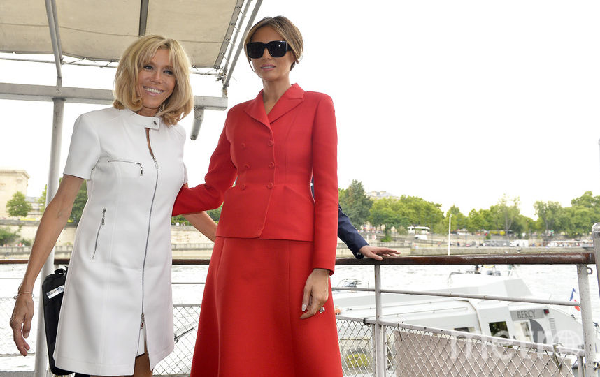 Брижит Макрон и Мелания Трамп. Фото Getty