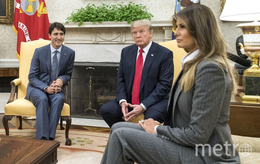 Мелания Трамп на встрече с канадским премьером. Фото Getty