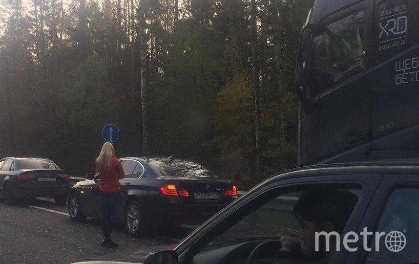В Ленобласти в результате наезда на КАМАЗ погибла женщина. Фото vk.com/spb_today