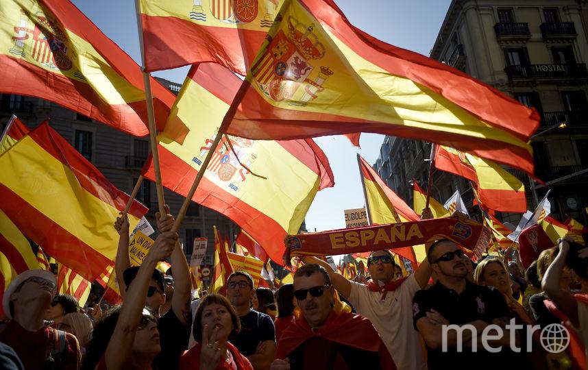 Демонстранты выступают за единство Испании. Фото AFP