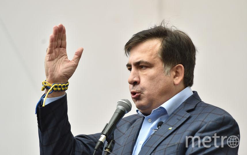 Михаил Саакашвили на демонстрации в центре Киева. Фото Getty