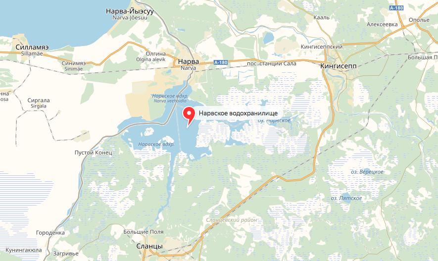 Нравское водохранилище. Фото яндекс.карты.