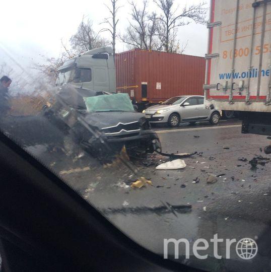 Фото с места аварии на Московском шоссе. Фото vk.com
