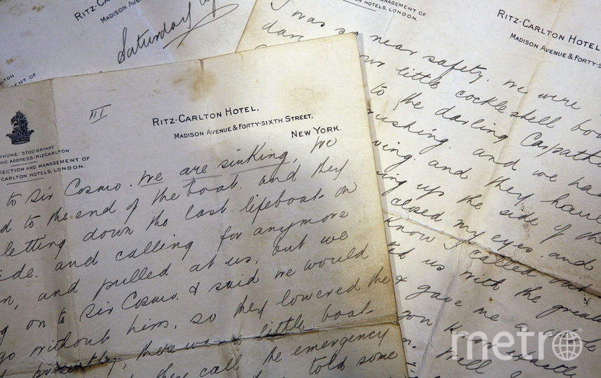 "Письма с ""Титаника"". Фото Getty"
