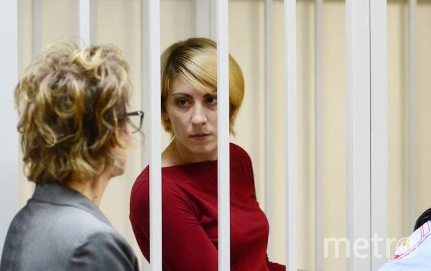 Ольга Алисова, сбившая насмерть шестилетнего мальчика в подмосковной Балашихе, во время предварительных слушаний в Железнодорожном суде Московской области. Фото РИА Новости