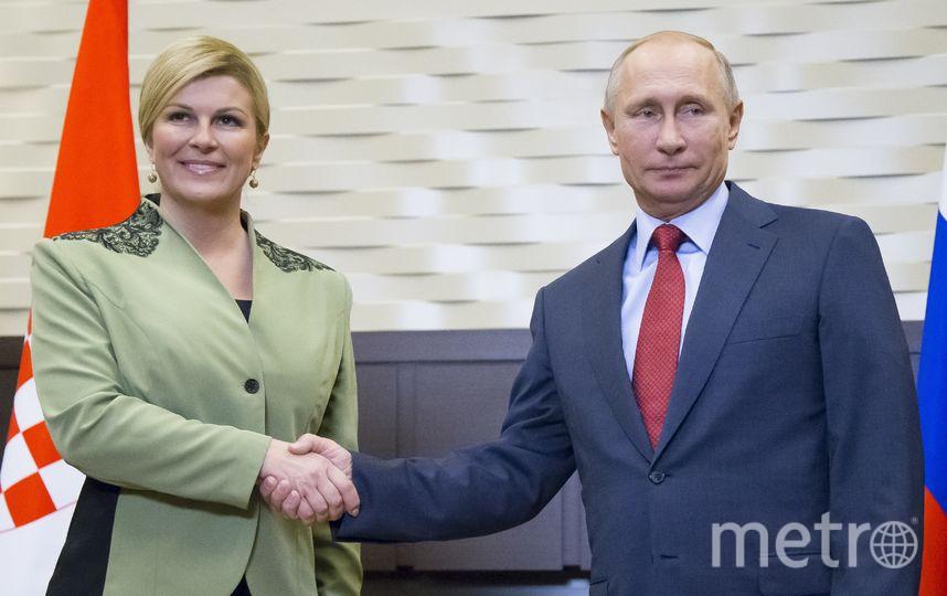 Встреча президентов России и Хорватии в Сочи. Фото AFP