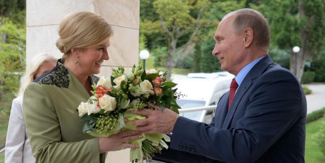 Встреча президентов России и Хорватии в Сочи.