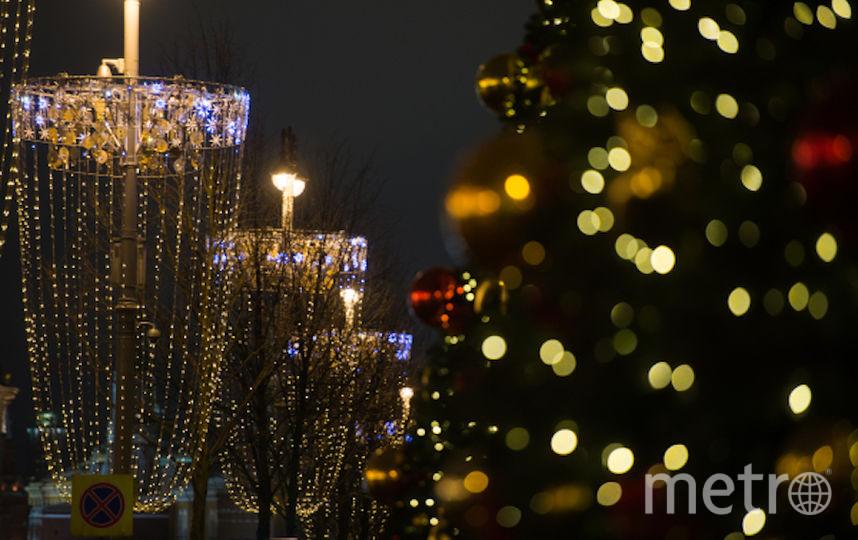 Новогодняя иллюминация на Тверской. Фото РИА Новости