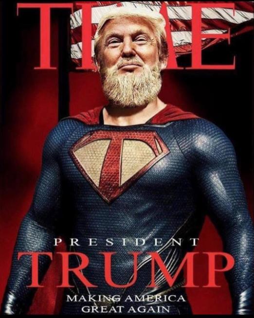 Президент США Дональд Трамп в образе супергероя. Фото Instagram @donaldjtrumpjr