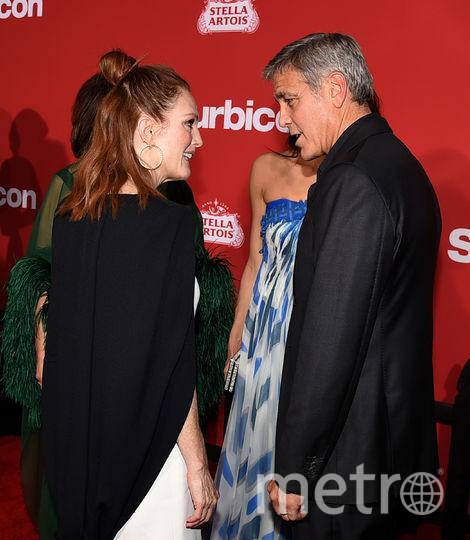 "Звёзды на премьере картины ""Субурбикон"".Звёзды на премьере картины ""Субурбикон"". Джордж Клуни и Джулианна Мур. Фото Getty"