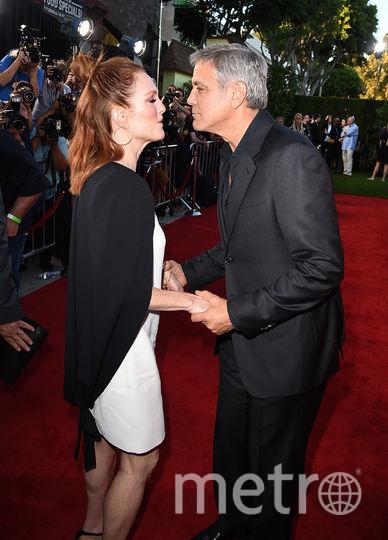 """Звёзды на премьере картины """"Субурбикон"""". Джордж Клуни и Джулианна Мур. Фото Getty"""