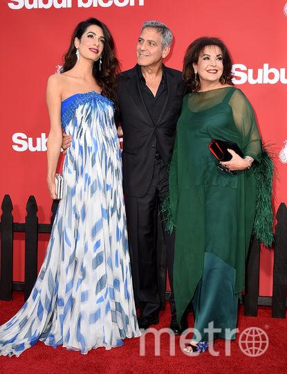 "Звёзды на премьере картины ""Субурбикон"". Джордж и Амаль Клуни. Фото Getty"