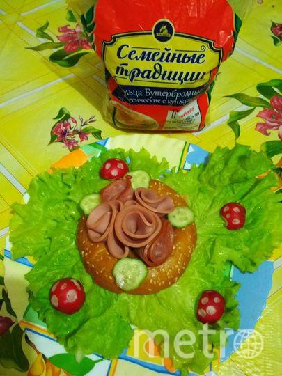 """Название нашего семейного бутерброда """"Вкусная розочка на полянке"""". Читательница метро Екатерина Жималина."""