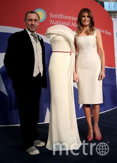 Инаугурационное платье Мелании Трамп стало экспонатом музея. Фото Getty