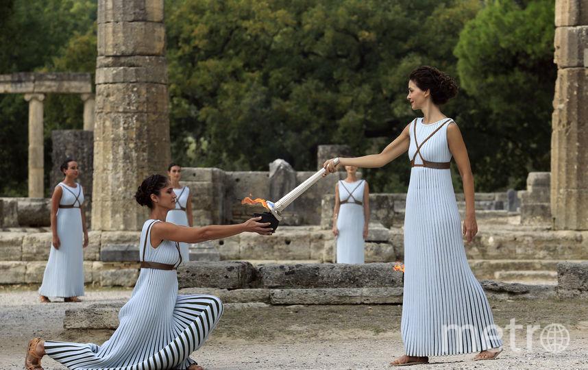 ВГреции отрепетировали церемонию зажжения огня зимней Олимпиады