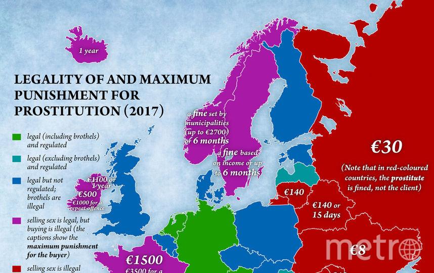 Карта проституции в Европе. Фото Jakub Marian.