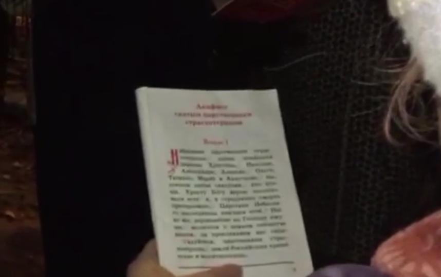 """У Мариинского театра перед премьерой """"Матильды"""" прошло молитвенное стояние. Фото Скриншот видео."""